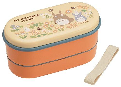 Skater Ovale boîte à Lunch à Deux étages de 630 ML Mon Voisin Totoro Flower Studio Ghibli fabriqué au Japon SX2