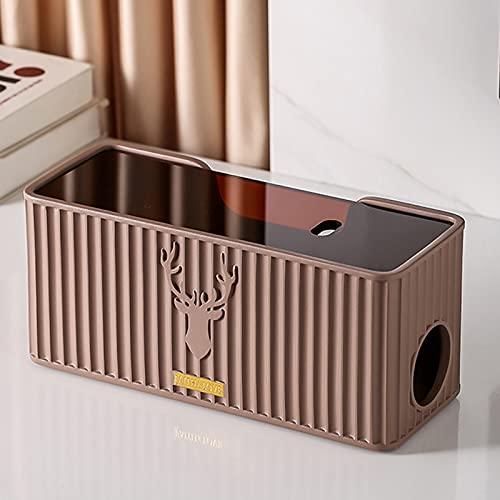 XWSM Caja De Administración De Cables Estuche De Almacenamiento Organizador De Cables para Proteger El Cargador De Regleta De Enchufes Cable De Concentrador USB Y Otros Dispositivos Eléctricos