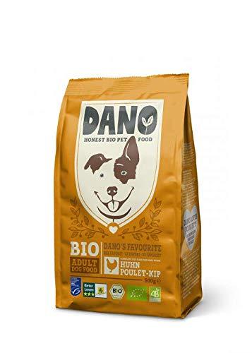 DANO Nahrhaftes Bio-Trockenfutter für Hunde – für alle Hunderassen | Exquisite Biologische Hundebrocken mit Huhn, 2kg | 100% biologisch, getreidefrei & frei von künstlichen Zusätzen