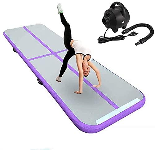 FBSPORT Airtrack Matte 10cm Hoch Verdicken 3M Aufblasbar Gymnastik Tumbling Matte,Trainingsmatte mit Tragetasche