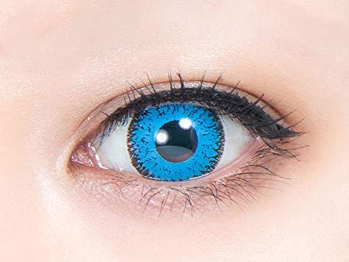 パーフェクトワンデー 【天の川 -あまのがわ- (コバルトブルー)】 ±0.00度なし (1箱6枚) カラコン 青 ブルー