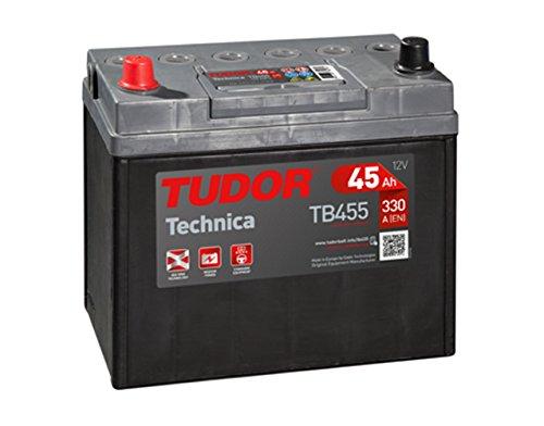 Batería para coche Tudor Exide Technica 45Ah, 12V. Dimensiones: 237 x 127 x 227. Borne izquierda.