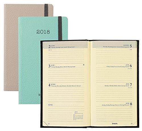 Brepols–Agenda semanal (Soft–Rejilla INTERPLAN–janv. a Déc. 2018–9,5x 16,5cm–visuales aleatorios