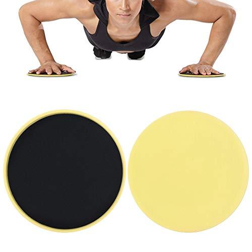 N/D 1 Pair Gliding Discs Slider Fitness Disc Exercise Sliding Plate for Men Women Yoga Gym Abdominal Core Training Exercise Equipment (Gray)