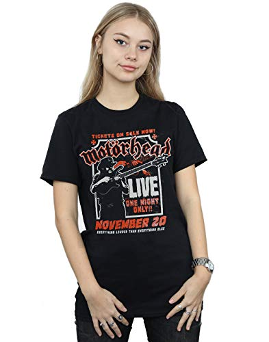 Absolute Cult Motorhead Mujer Lemmy Firepower Camiseta del Novio Fit Negro XXX-Large