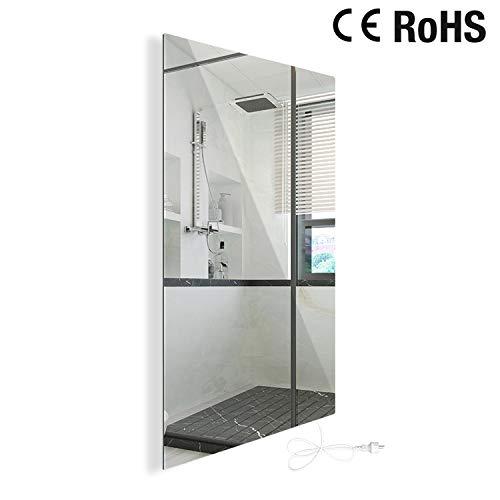450W Infrarotheizung Spiegelheizung mit Ein-/Ausschalter Spiegel Heizung Infrarot Wandheizung Heizplatte Heizpaneel Elektrisch Energieeinsparend Carbon Crystal mit CE RoHS