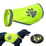 Doggie Style Store Yellow Hi-Vis Hi Visibility Fluorescent Dog Pet Puppy Safety Vest Top Reflective Vis Night Jacket Coat 5 Sizes