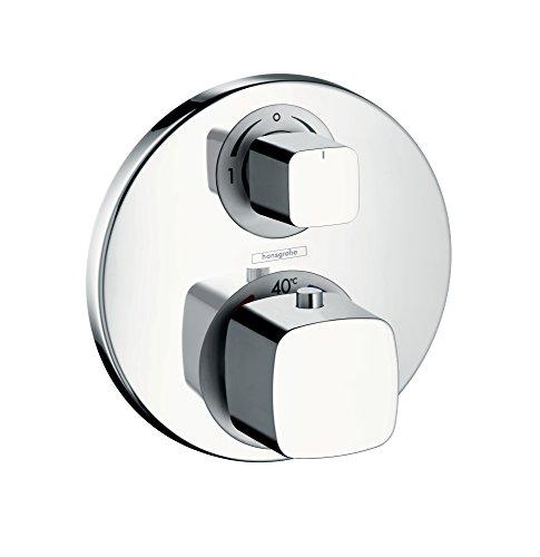 hansgrohe Metris Unterputz Thermostat, für 1 Funktion, mit Abstellventil, Chrom