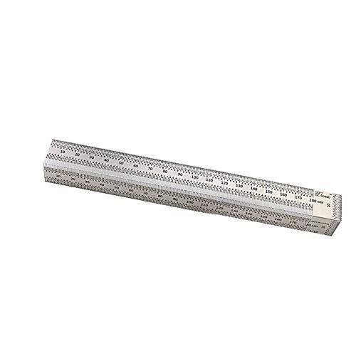 DIMDIM Hochpräzises Skalenlineal, Edelstahl, T-Typ-Loch-Lineal, Verwendung für Kritzeleien, Holzbearbeitung, Messwerkzeug (Größe: 180 mm ohne Stift)