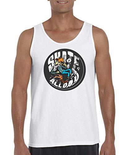 Druckerlebnis24 Tank Top - Skate Allday Skateboard Hipster - Muskelshirt für Männer und Herren