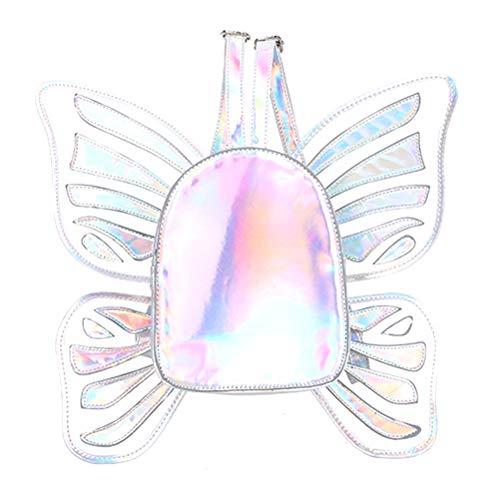 Mädchen Rucksack/Schmetterling Daypack, Damen Schulrucksack Holo Holographic Backpack Glitzer für Teenager Frauen Mädchen