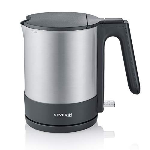 SEVERIN WK 3409 Wasserkocher, 2200, Kunststoff, 1.7 liters, Edelstahl-gebürstet-schwarz