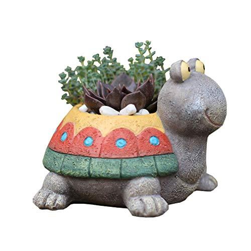 Bigood Animaux Pot de Fleur Mignon Cartoon Bibelot Petit pour Succulentes Cactus #A 9x10cm
