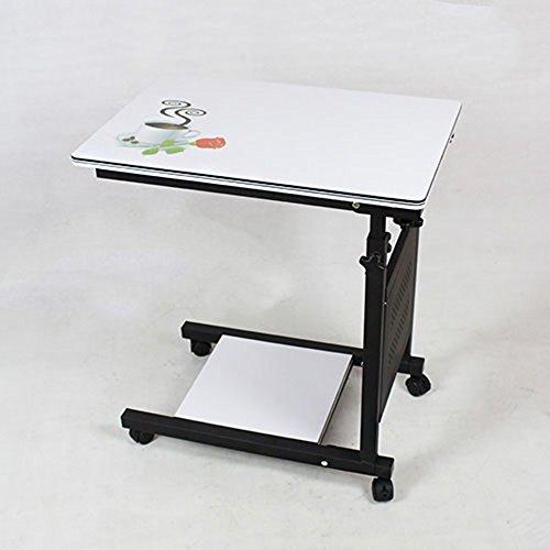MLMHLMR Verstellbares Matratze-Nachttischrad for Krankenbett und Matratze for Laptop sowie Roll-Bettablage for Laptophalter Klapptisch (Color : White)