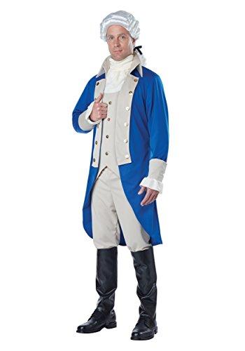 Adult George Washington Costume X-Large Blue