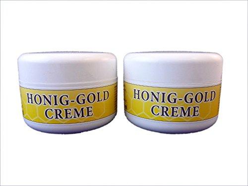 Honig-Gold-Creme 100 ml - Für Gesicht, Hände und Körper 2 Stück