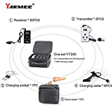 YT200 YARMEE Portable Handheld Wireless New Tour Guide System Included Transmitters and Receivers (1+2)