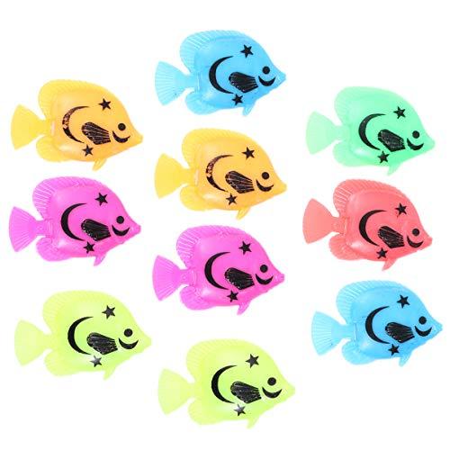 UEETEK künstliche Aquarium Fisch Verzierung für Aquarium Fisch Behälter Dekoration(Farben sind zufällig)