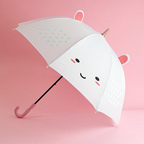 SMOKO Elodie Einhorn Farbe Wechselnde LED-Regenschirm, Weiss, mit Wasser-Sensor, ca. 79 Zentimeter...