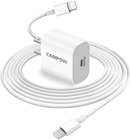 iPhone Fast Charger Apple MFI Certified Cabepow 20W PD USB C Power Adapter Wall Plug with USB product image