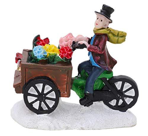 TOYLAND Mini Adorno Coleccionable de Resina Accesorios de Escena de Pueblo - Figuras de Navidad (Vendedora de Flores)