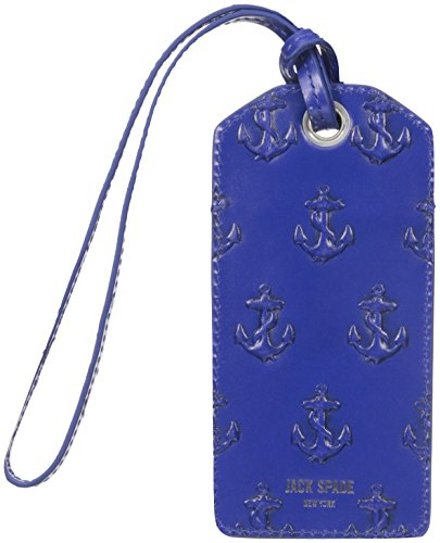 Jack Spade Men's Embossed Anchor Luggage Tag, Admiral Blue, One Size