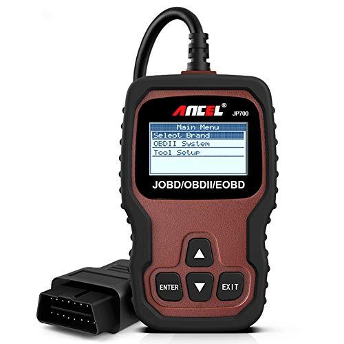 ANCEL JP700 OBD2 Diagnosegerät für japanische Fahrzeuge JOBD-Codeleser Auto OBD II Scanner, Fehlercodes von Motor lesen und löschen, Motorlicht ausschalten