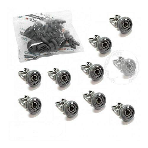 Kit de 10 piezas Ruedas (ORIGINAL Beko), para cesta superior de lavavajillas, color gris, código del recambio: 1885800500