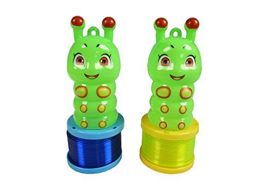 2 Stück kleine LED Raupe / Glühwürmchen mit Spirale und Laternenstab für z.B. Laternenumzug mit den ganz kleinen. Laterne, Laternen Singen, Martins Singen