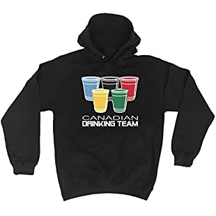 Customer reviews 123t Canadian Drinking Team Glasses Funny Party Sports Pub Beer Humour Hoodie:Lidl-pl