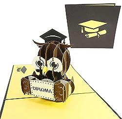 une carte de voeux parfaite pour les jeunes diplômés et grands! un parfait parti grad invitent! comprend un blanc 6 x 6 carte poplife 3d pop-up, et une enveloppe pour envoyer ou don par la poste. le profil ultra mince de cette carte signifie que le d...