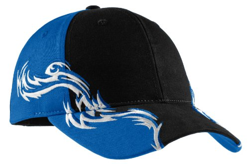Port Authority Men's Colorblock Racing Cap with Flames
