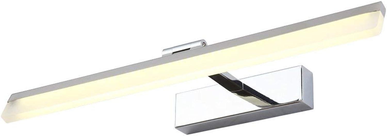 LED Edelstahl Spiegel Vordere Lampe Einfache Moderne Badezimmer Spiegelschrank Lights Make-up-Scheinwerfer Waschen der Hnde Tabelle Beleuchtung (Gre  37 cm)