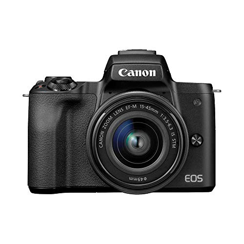 Canon EOS M50 Mirrorless Digital Camera with EF-M 15-45mm Lens (Black) and 32GB Card + Basic Photo Travel Bundle