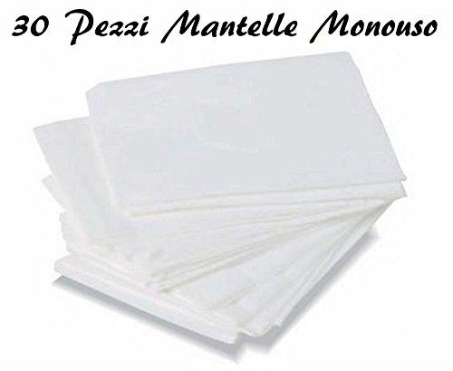 MANTELLINE MONOUSO BIANCO PER PARRUCCHIERE MANTELLINA MANTELLA 30PZ PARRUCCHIERI