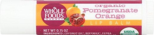 Whole Foods Market, Organic Pomegranate Orange Lip Balm, 0.15 oz
