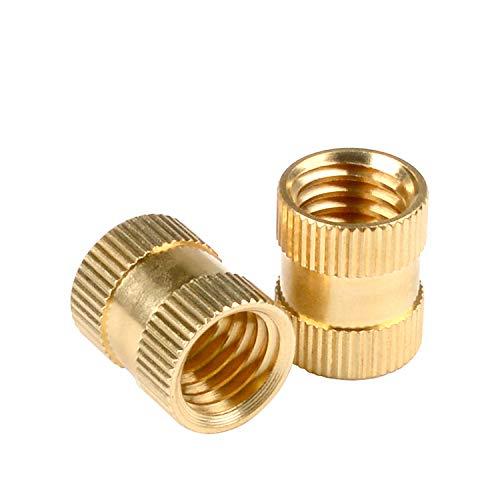 in-saiL Phoenix Mall 50pcs Pack M6x8.0mm Ranking TOP1 OD8.0mm Knurled Thread Brass Female