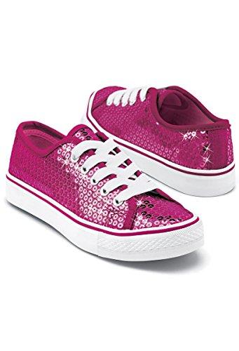 Balera Sequin Low Top Dance Sneakers Fuchsia 2AM