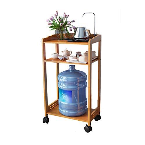 Tables basses Support à thé côté canapé Armoire latérale Amovible Table à thé Table d'angle Table d'eau Armoire à thé (Color : Brown, Size : 42 * 29 * 80cm)