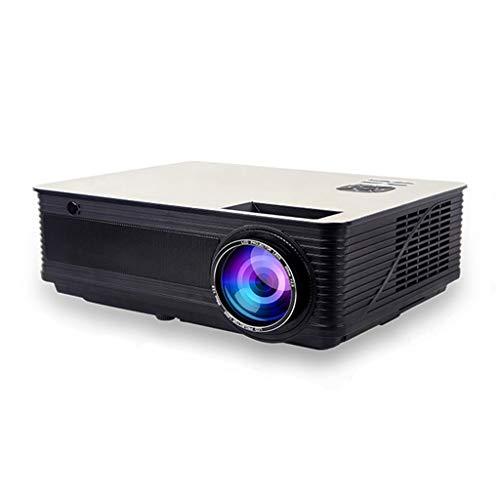 Projecteur maison petit bureau 1080p sans fil wifi home cinéma 3D projecteur l-mix portable projection sans écran (Color : BLACK, Size : 30.2 * 21.7 * 10.6CM)