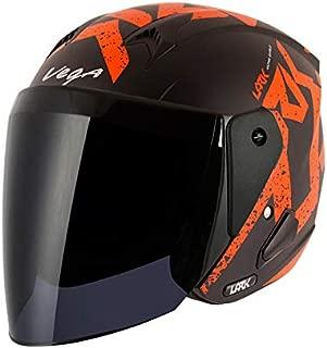 Vega Lark Victor Dull Black Orange Helmet, M