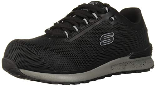 Skechers Men's Bulkin Industrial Shoe, Black, 11.5
