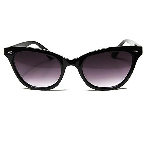 KISS Gafas de sol CAT EYE mod. PIN-UP - cult vintage MUJER de moda rockabilly NIKITA - NEGRO