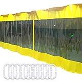 LSXIAO Transparente Cortina De Lona,Impermeable Panel De La Puerta, Resistente Al Clima Incluyendo Gancho con Ojales Inoxidables para Garaje, Pérgola, Porche, Kiosko