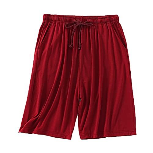 Pantalones Cortos De Moda para Hombre Pantalones Cortos De Verano Finos De Cinco Puntos para El Hogar Pijamas Casuales Sueltos De Gran TamañO Pantalones De Playa