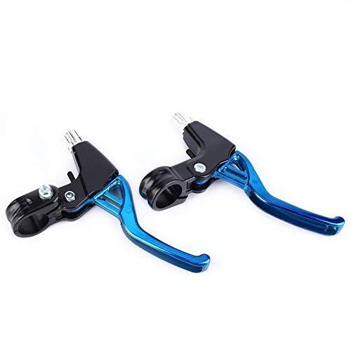 Palancas de Freno de Bicicleta 1 par Aleación de Aluminio Ciclismo Manijas de Nivel de Freno Palancas de Embrague de Freno para Bicicleta de Carretera Bicicleta de montaña(Blue)