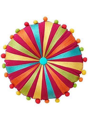 Gardinenbox.eu Dekokissen, Farbe bunt, 1 Stück, Heine Home, Kissen/Kissenhülle, Größe: ca 35x55 cm, rund, In der Mitte mit Kopfheftung, mit füllung