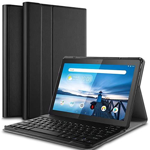 lenovo tablet con tastiera IVSO Tastiera Custodia Portfolio per Lenovo Tab M10 TB-X605 (QWERTY Layout)