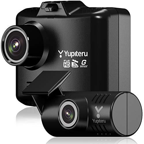 ユピテル 前後2カメラ ドライブレコーダー WDT500 電源直結モデル 前方200万画素 後方100万画素 ノイズ対策...