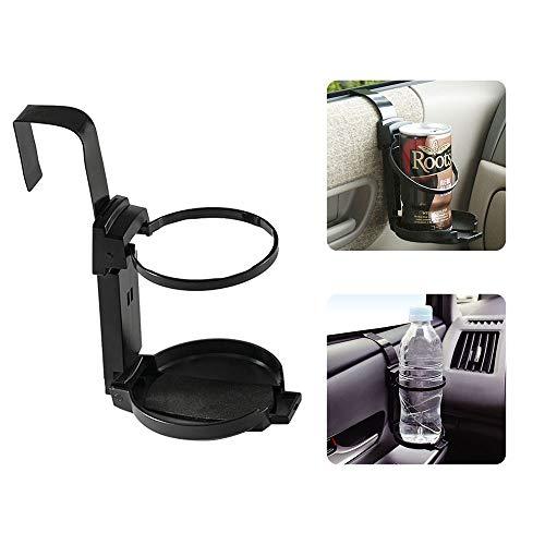 LITTLEMOLE Car Cup Holder, Vehicle Door Cup Holder, Adjustable Drink Holder for Truck Interior, Soda Cans and Water Bottles